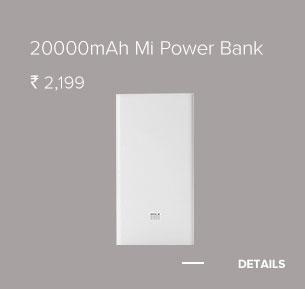 20000mAh Mi Power Bank White