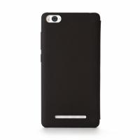 Mi 4i Smart Flip Case (Black) (Black)