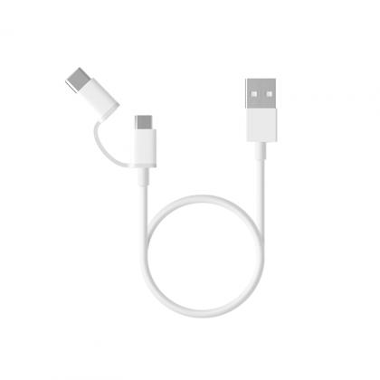 小米二合一數據線 (MicUSB轉Type-C) 30cm