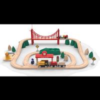 米兔軌道積木 電動火車套裝 彩色