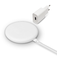 20 W High Speed Wireless Charger Set Blanco Standard