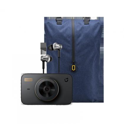 米家行車記錄器 1S  + 小米戶外休閒雙肩包 + 小米圈鐵耳機 Pro