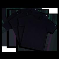 Mi Organic Solid T-Shirt Black (Pack of 3)