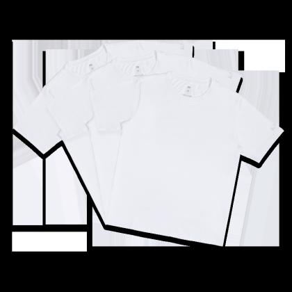 Mi Organic Solid T-Shirt White (Pack of 3)