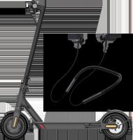 小米電動滑板車1S+藍牙項圈耳機套裝