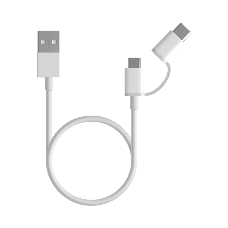 Mi 2-in-1 USB Cable (Micro USB To Type C) 100cm Blanco Standard