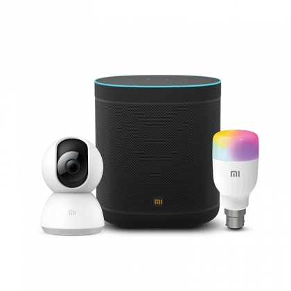 Mi Wifi Smart Speaker + Mi Home Security Camera 360° 1080P + Mi Smart LED Bulb (B22)
