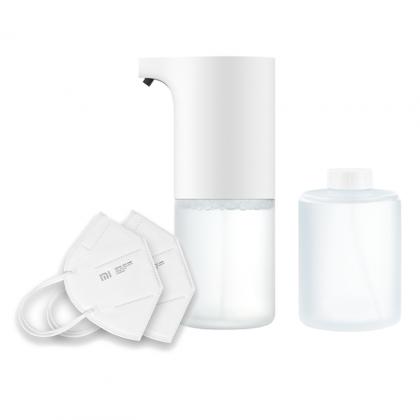 Mi Automatic Soap Dispenser + Mi KN-95 Protective Mask (Pack of 2)