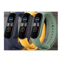 Mi Smart Band 5 Strap (3-Pack) Navy Blue/Yellow/Mint Green Standard