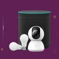 Mi Wifi Smart Speaker + Mi Home Security Camera 360° 1080P +Mi Smart LED Bulb (White - Pack of 2)