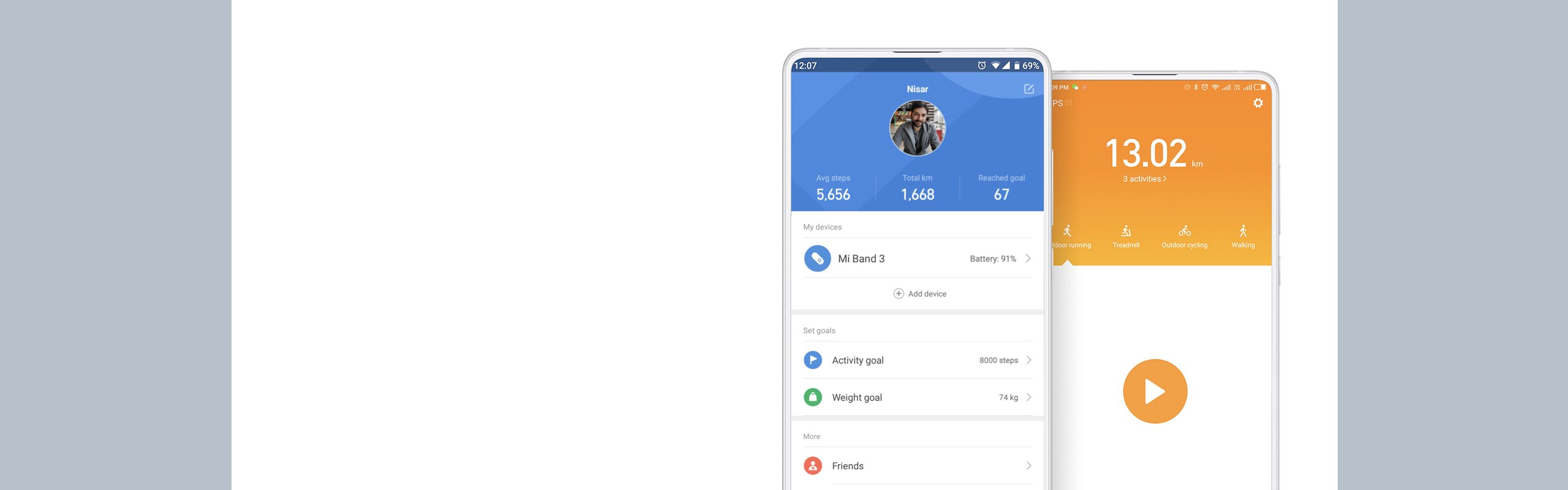 With the Mi Fit App you can set customized daily goals based on your needs choose an exercise that works for you and regularly check your progress