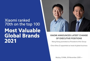 Xiaomi: Top 70th Global Valuable Brands
