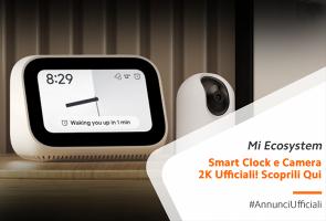 Mi Smart Clock e Mi Security Cam 2K Pro