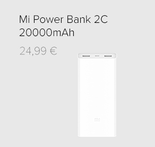 20000mAh Mi Power Bank 2C