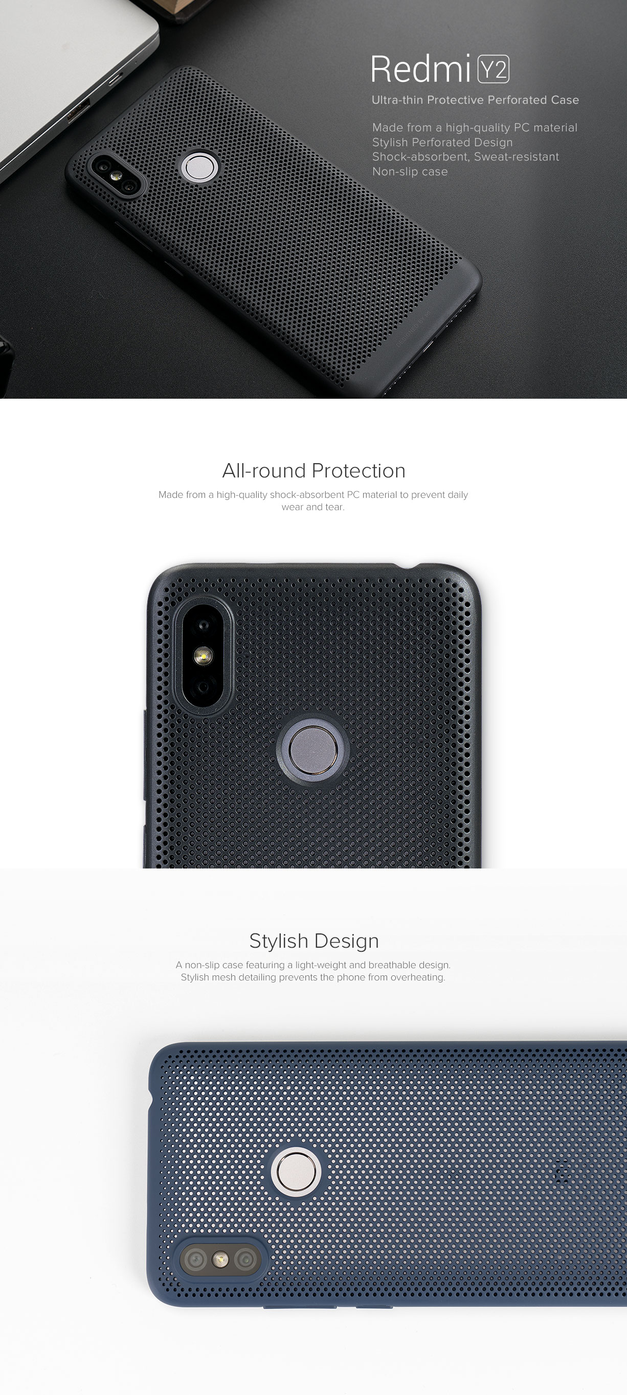 new products 989f6 18761 Redmi Y2 Perforated Case - Cases & Protectors