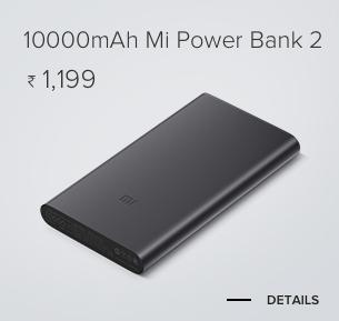 10000mAh Mi Power Bank 2 Black