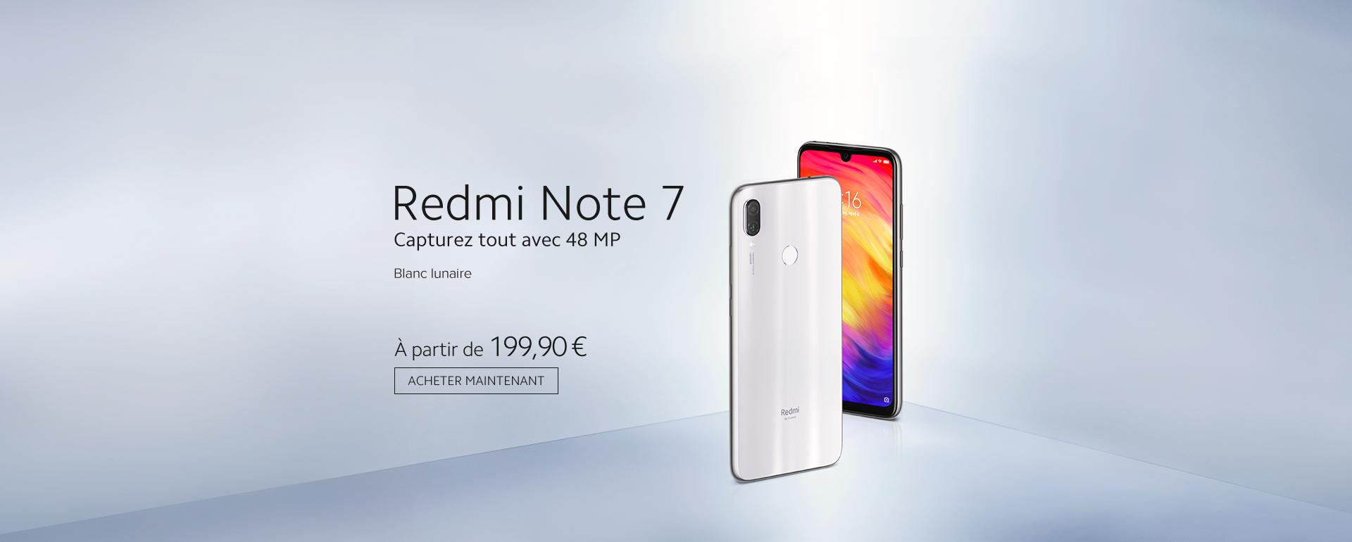 Redmi Note 7 Blanc Lunaire