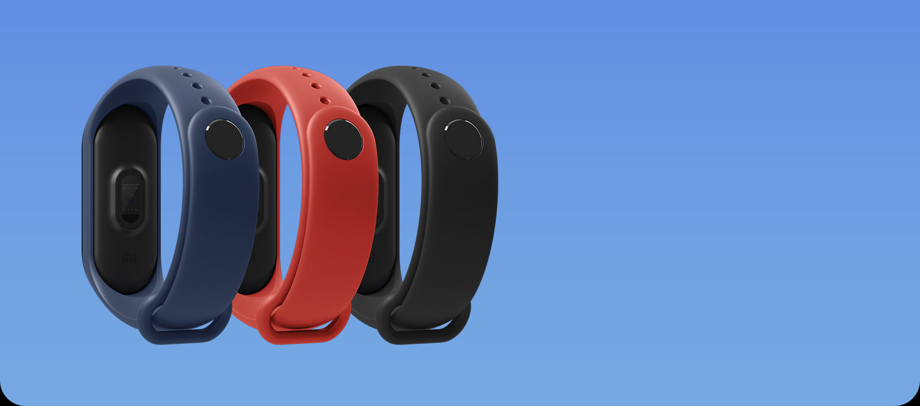 *The standard color of the Mi Band 3 is graphite black. Other colors are sold separately