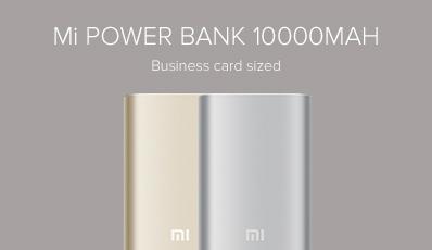 10000mAh Mi Power Bank Silver