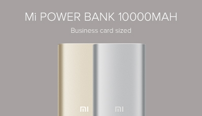 10000mAh Mi Power Bank Silver