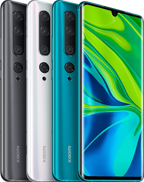 Color options of Mi note 10