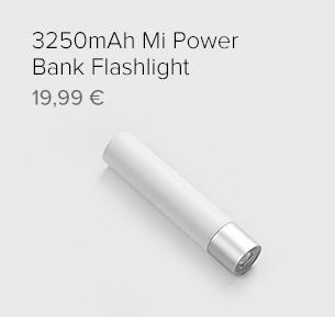 3250mAh Mi Power Bank Flashlight