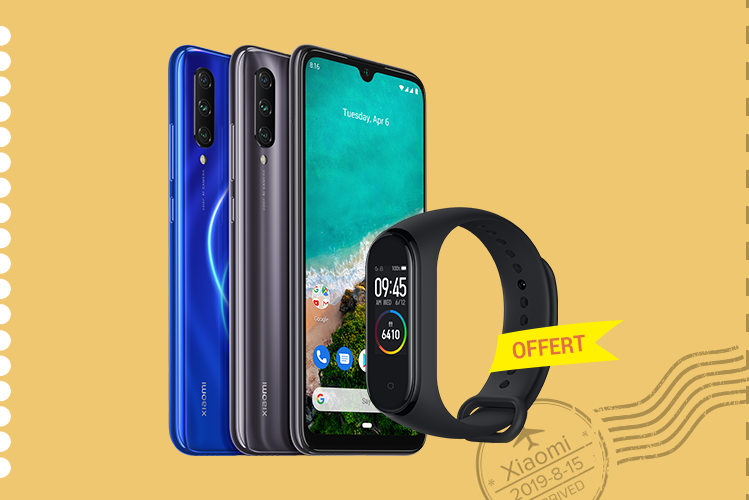 Mi A3 <br>4 GB+128 GB<br>Mi Smart Band 4 Offert