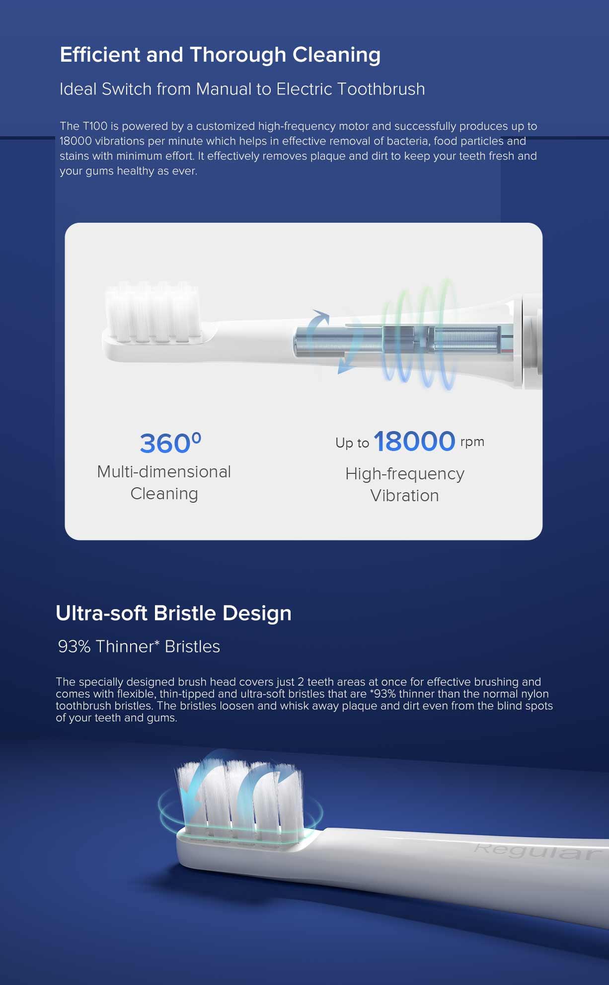 Xiaomi Mijia T100 Mi Smart Electric Toothbrush 7
