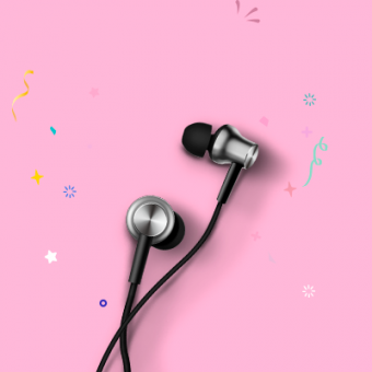Mi Earphones  (Black/Silver)