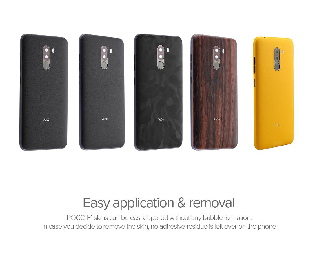 POCO F1 Mobile Skin Matte Yellow]Product Info - Mi India