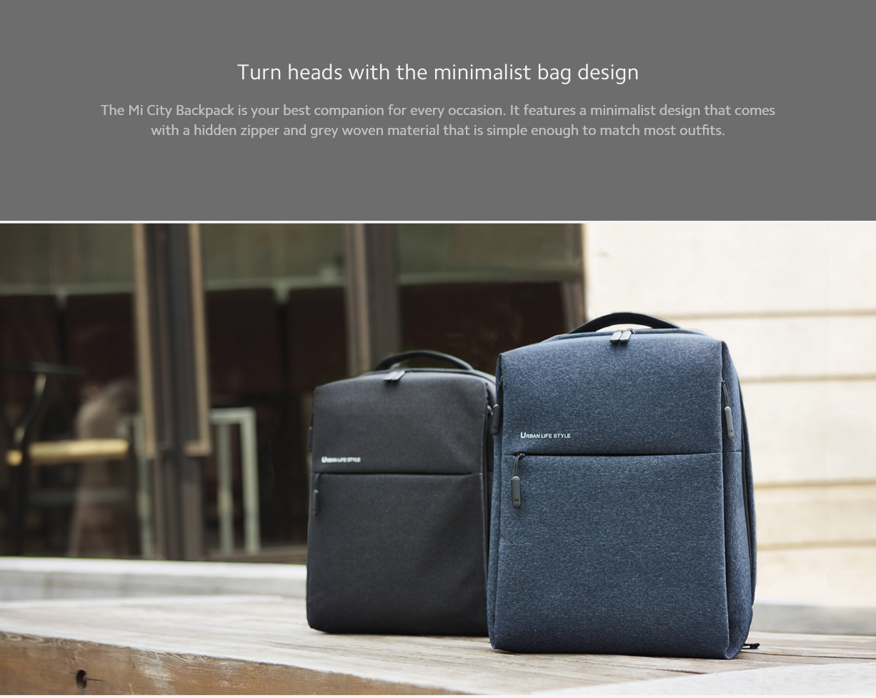 Mi City Backpack Light Grey/Dark Grey/Dark Blue -Global