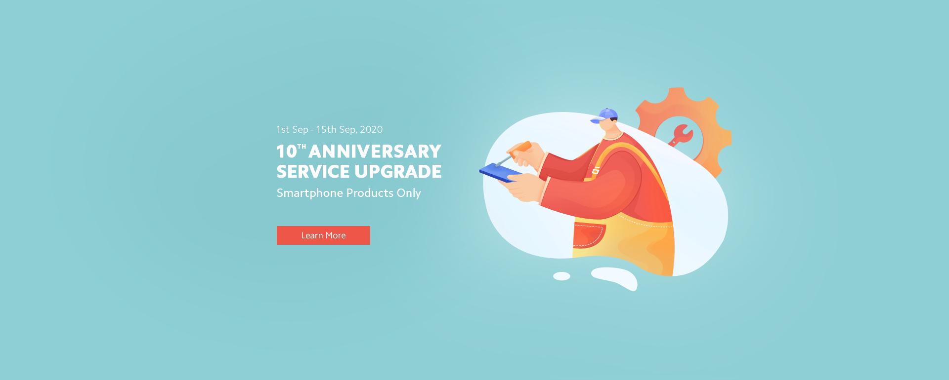 10TH ANNIVERSARY SERVICE UPGRADE